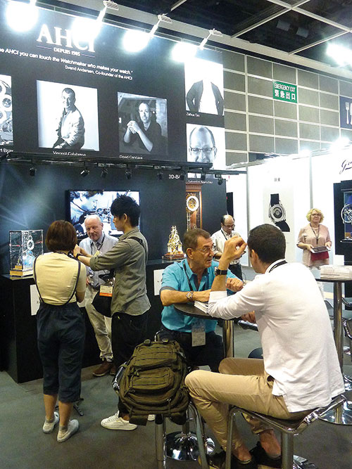 Members of AHCI talk to visitors to the Fair.